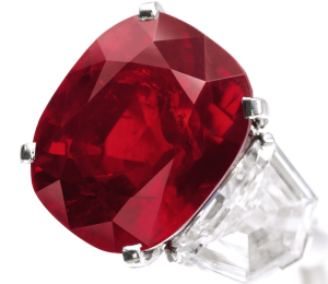 the sunrise ruby at 25 - 59 carats this rare pigeon