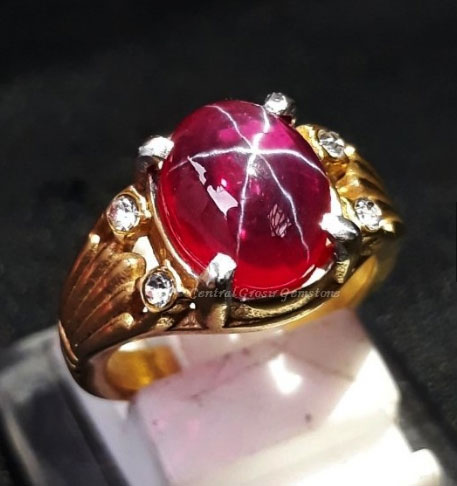 Cincin Batu American Star Top Crystal
