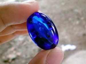 Batu Akik Borneo Biru Jenis Topaz