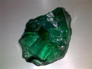 Bongkahan Batu Natural Green Obsidian (Obsidian Hijau) Asli Kalimantan