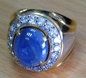Batu Akik Borneo Blue Jenis Blue Safir