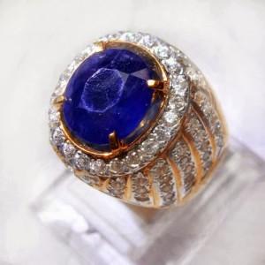 Batu Akik Safir Biru Afrika
