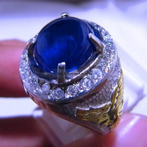 Batu Permata Cincin Royal Blue Safir