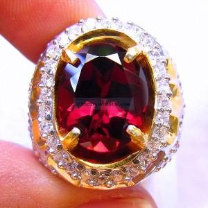 Cincin Batu Permata Red Garnet