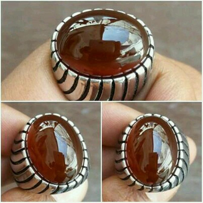 Batu Cincin Natural Yaman Wulung Coklat Tua Original