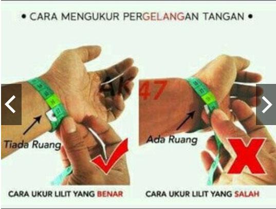 Cara ukur pergelangan tangan Bracelet Stone Magnetic