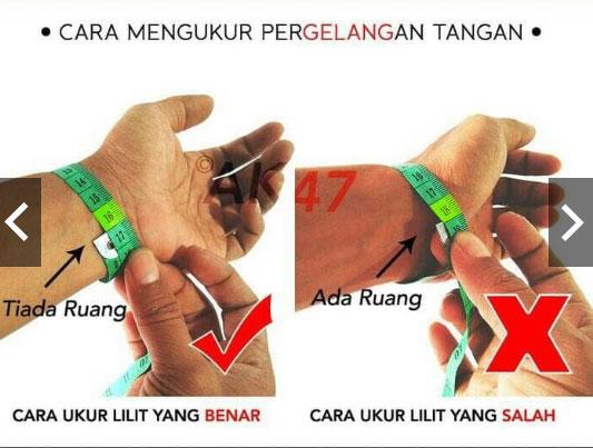 Cara ukur pergelangan tangan