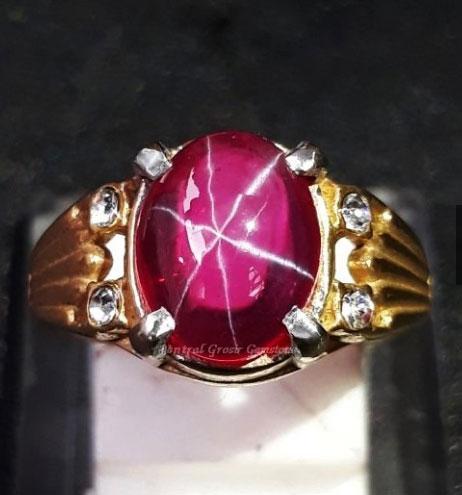Cincin Perak American Star Top Crystal